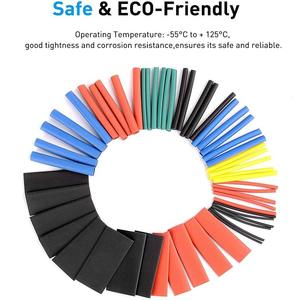 560pcs PE Heat Shrink Tube Assortment Wrap Electrical Insulation Cable Tubing Polyolefin Cable Insulated Sleeving Tubing Set