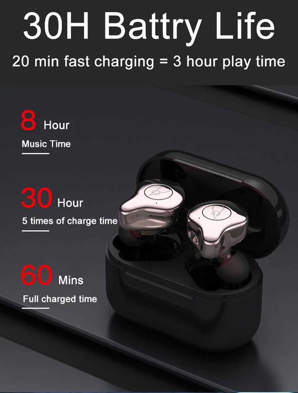Original Sabbat E12 ultra TWS Bluetooth 5.0 Earphone aptX QCC3020 Wireless Stereo Earbuds with 750mAh Charging Box CVC8.0 IPX5 (5)