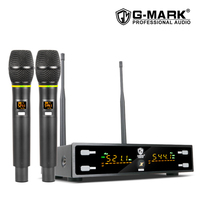 G MARK X320FM Wireless Microphone Professional karaoke mic Frequency Adjustable metal body 80M receive singing chruch party