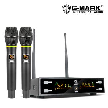 G-MARK X320FM mikrofon bezprzewodowy profesjonalny mikrofon karaoke regulacja częstotliwości metalowy korpus 80M odbieranie śpiewu chruch party tanie i dobre opinie Mikrofon ręczny Dynamiczny Mikrofon Karaoke mikrofon Wielu Mikrofon Zestawy Kardioidalna wireless 520-580MHz 80 meters