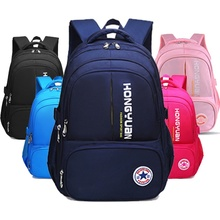 Solid Black Backpack High School Students Schoolbag Boys Backpack Girl Boy Children's Waterproof Large Student Backpack