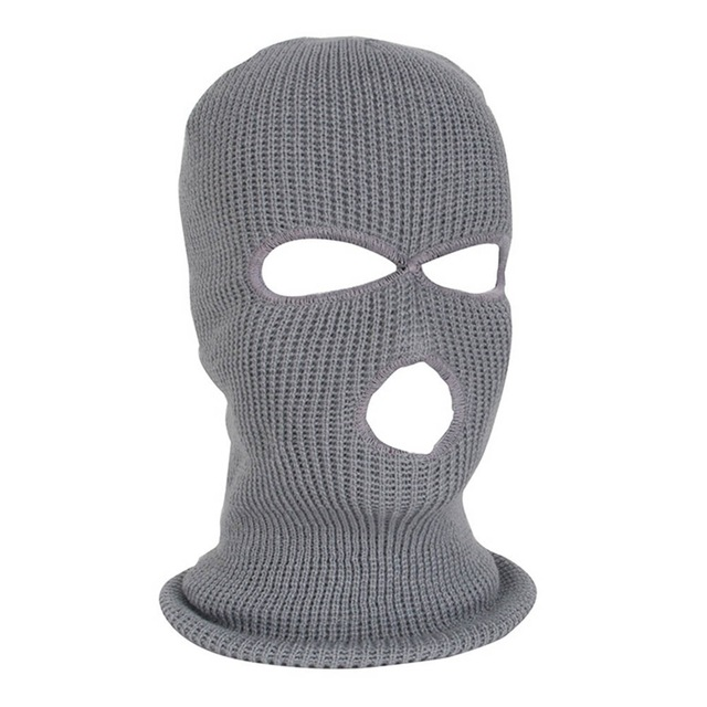Knitted Three Hole Balaclava Great For Skiing Cycling or Hiking