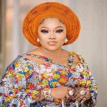 Laatste Afrikaanse Organza Kant Stof 2020 Hoge Kwaliteit Kant Pailletten Franse Nigeriaanse Kant Stof Voor Wedding Party Dress SL699