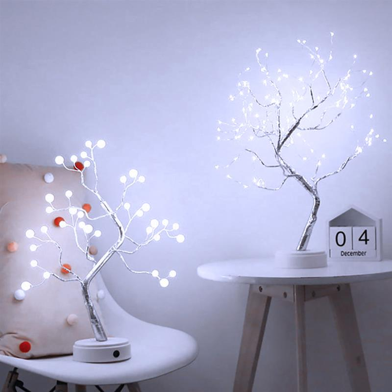 108 Led Table Tree Lamp Copper Wire Battery String Lights Fairy String Light Holiday Valentines Day Wedding Decoration