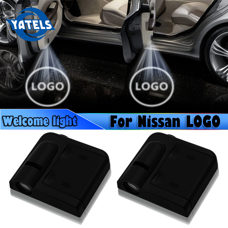 2 PCS NEW Car Styling Wireless LED Auto Car Door Welcome Logo Light Laser Projector Ghost Lamp For Nissan Nismo Car Accessories