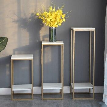 Arte luz dorada simplicidad extravagante moderno un marco de maceta interior de sala de estar verde Luo al suelo almacenamiento florero