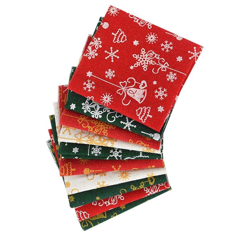10 pçs/lote 20x20cm natal algodão pano costura tecido para retalhos needlework diy material feito à mão decorações de natal casa