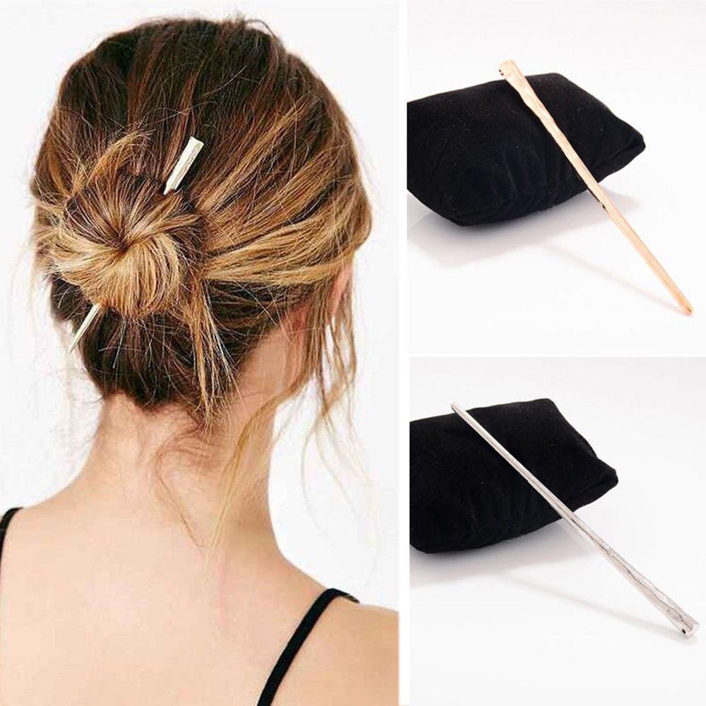 Женская длинная металлическая палочка для волос, украшения для волос, аксессуары для волос