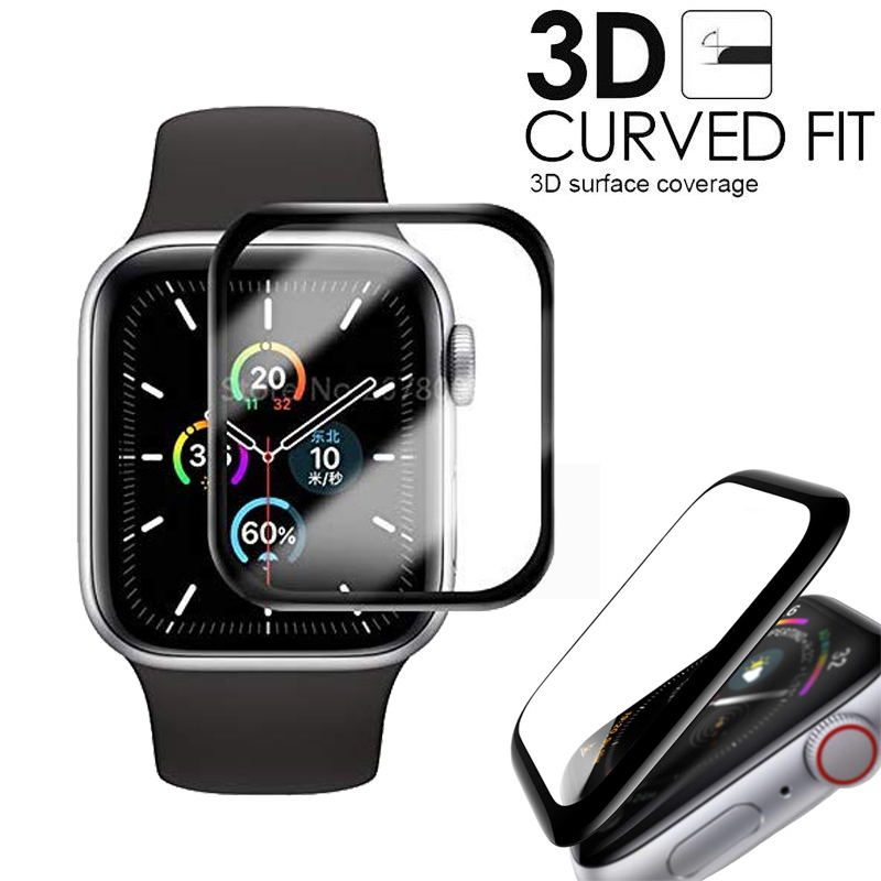 3D HD Tempered Glass Case For Apple Watch series 5 4 screen Protector Film Scratch Resistant Waterproof For iWatch 44mm 40mm