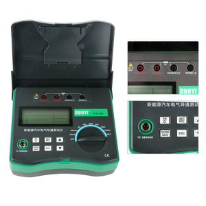 Image 3 - جهاز اختبار دائرة المقاومة الكهربائية, دائرة مقاومة رقمية DY4106 جهاز اختبار كهربائي ميكرو أوم مع مستشعر درجة الحرارة يعمل بالبطارية مقياس ميولومتر رقمي