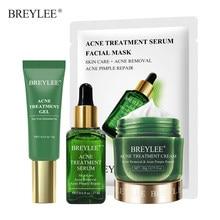 BREYLEE Anti Akne Reparatur Set Gesichts Maske Behandlung Entfernung Öl Steuer Creme Schrumpfen Poren Feuchtigkeits Gesicht Hautpflege Serum