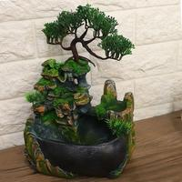 Garden Decoration Home Decoration Accessories Waterfall Desktop Fountain With Color Changing Led Lighting Zen Meditation