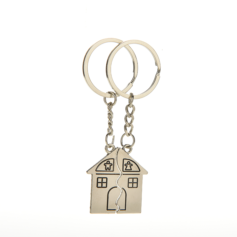 1pair/lot Unisex Woman Man Casual I LOVE YOU Lovers Keychain Warm House Type Couple Key Chain House Key Ring