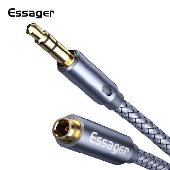 Essager przedłużacz do słuchawek Jack 3 5mm Audio przewód Aux 3 5mm żeński Splitter głośnik przedłużacz dla Adapter do słuchawek tanie i dobre opinie Męski-żeński 3 5mm Jack Aux Cord Audio Extension Cable Audio Przedłużacz Pakiet 1 Woreczek foliowy Oplot Brak Projektor