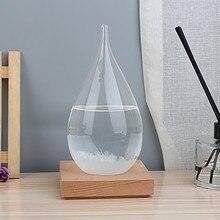 20,5*9,5 см настольная капелька штормовая стеклянная бутылка, погода, погода, Хрустальная бутылка в форме капли воды, стеклянный декор, домашний подарок E3