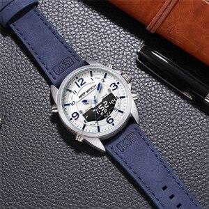 Image 5 - Double fuseau horaire nager hommes montre de sport calendrier numérique montres à Quartz étanche 50M horloge militaire Relogio Masculino
