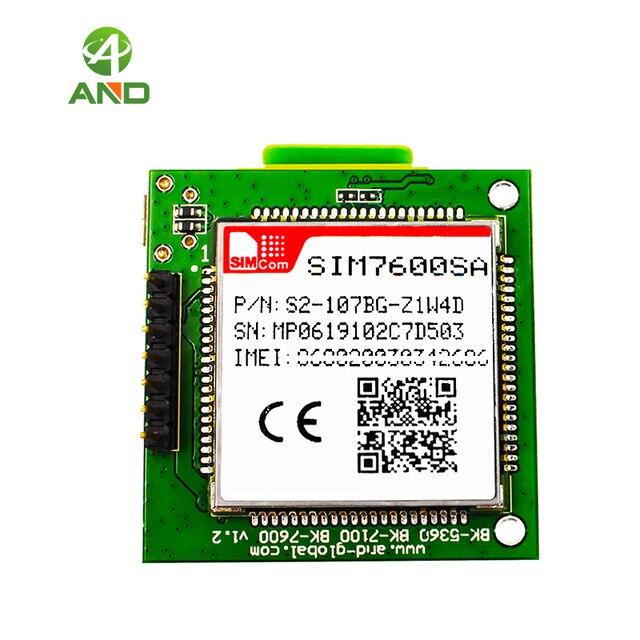 1pc novo sim7600sa lte cat1 mini placa de núcleo, 4g sim7600sa breakout board para a austrália/nova zelândia/américa do sul