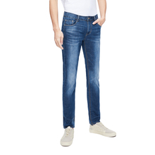 Cloudstyle Jeans Men New Business Casual Male Denim Pants Straight Elastic Blue Men's Trousers Yong Man For Spring