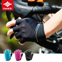 2019 NEW Santic Gel Pad Shockproof Cycling Gloves Men Women MTB Road Bike Gloves Half Finger Summer Breathable Bicycle Gloves