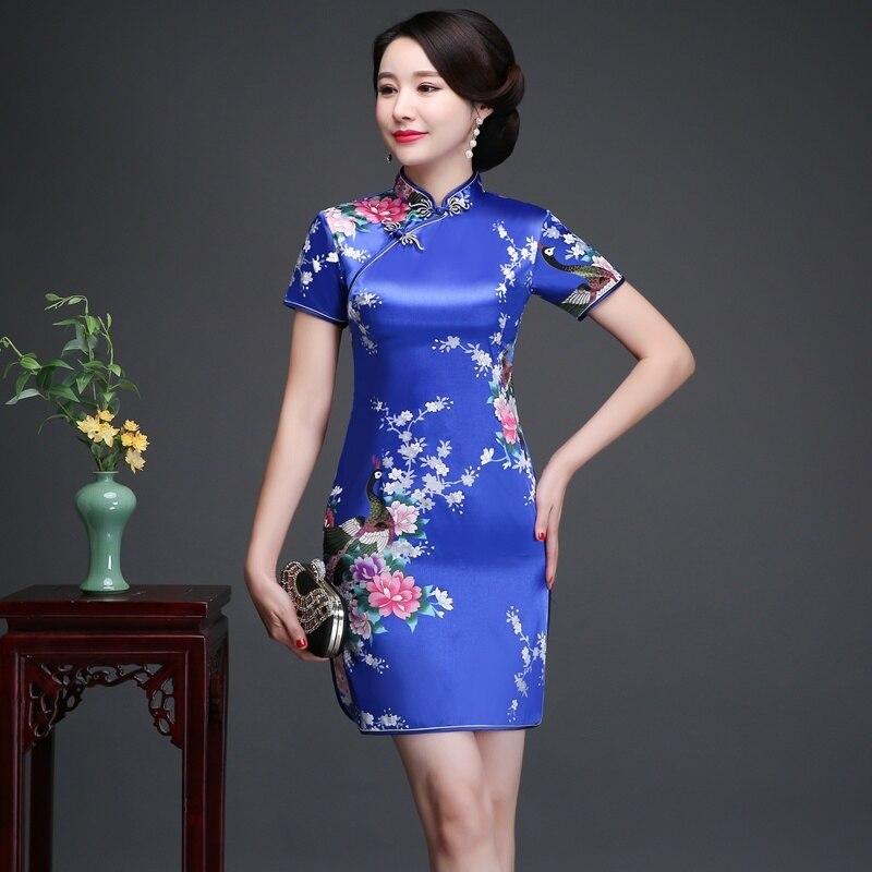 Daily Life New Cheongsam Improved Version nian qing kuan 2019 summer & autumn zhuang GIRL'S Chinese-style Short Dress Dress 2