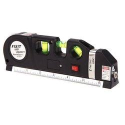Poziomica laserowa pomiar laserowy 03 linia prosta dokładny pomiar linijka laserowa z linijką