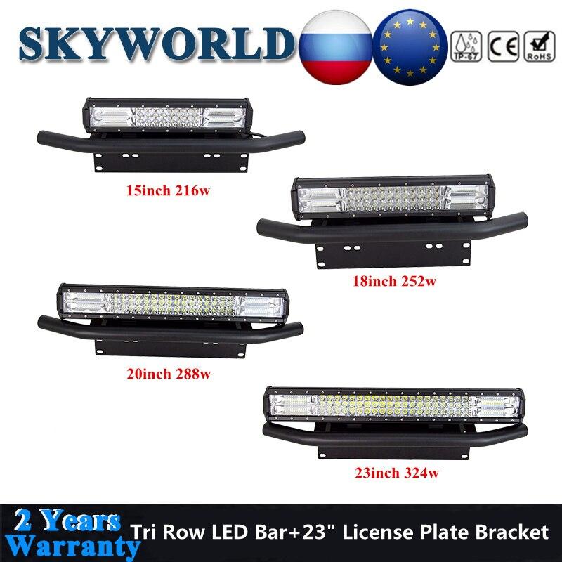 Tri ряд Светодиодный светильник бар/рабочий светильник внедорожный 15