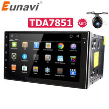 Eunavi 2 Din Android 9.0 Universal Car Radio Stereo Gps Navigatie 2din Autoradio 1024*600 Hd Touch Screen Multimedia TDA7851 Rds