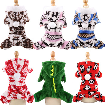Christmas Pet-Dog-Clothes Soft Fleece Dog Pajamas Warm Winter Cat Clothing Chihuahua Dogs Jumpsuit Puppy York Coat Hoodies 30 sweet pet dog hoodie coat jumpsuit sweater fleece warm winter for cat small dogs sweatshirts pet clothes puppy chihuahua