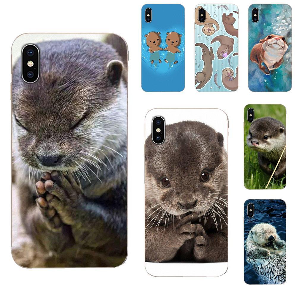 Animal Cute Baby Otter Pattern For LG G2 G3 G4 G5 G6 G7 K4 K7 K8 K10 K12 K40 Mini Plus Stylus Thinq 2016 2017 2018 Ultra Thin