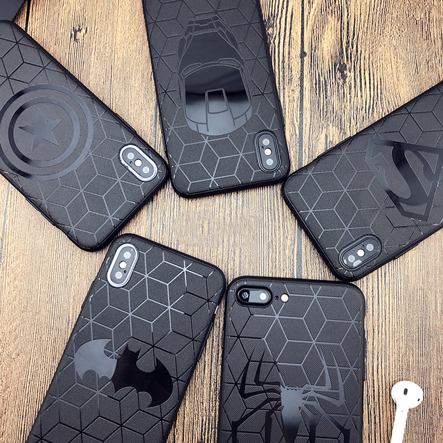 Heroes Black Phone Cases for Iphone (7 Designs) 5