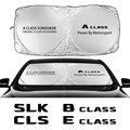 Солнцезащитный козырек для лобового стекла крышка для Mercedes W124 W203 W204 класса B Класс C CLASS E CLASS S класса CLA CLS SL SLC аксессуары SLK
