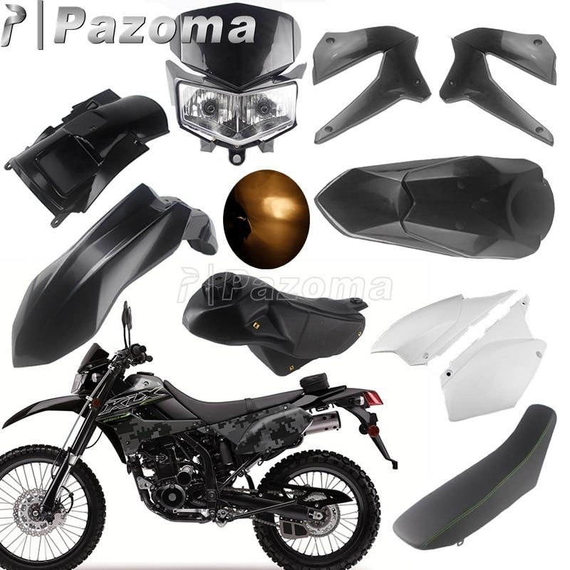 Motorcycle Fairing Cowl Body Kit For Kawasaki KLX250 KLX250S D-Tracker X 250 KLX250SF Headlight Tank Seat Fenders Side Covers
