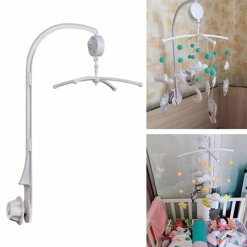 DIY Baby Crib Mobile Hanging Bed Bell Holder Toy Arm Bracket Wind-up Music Box
