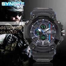 SYNOKE Brand Digital Watch Men Sport Watches For Men LED Electronic Clock Quartz Waterproof
