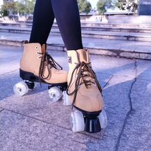 Skates Shoes 4-Wheels Pantine Yellow Woman Ourdoor Blue Black 3-Colors Artificial