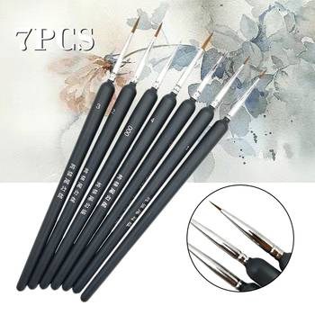 7Pcs/Set Extra Fine Tip Detail Paint Brushes Art Miniature Model Maker Artist Painting Brush Pen Art Stationery Supplies