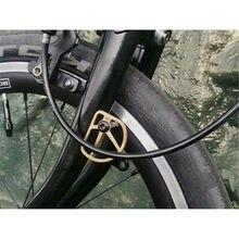H & h placa para paralama de linha de bicicleta, dobrável em titânio ti para brompton sem fender