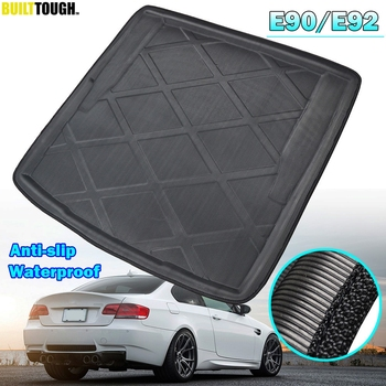 For BMW 3 Series E90 Sedan Saloon E92 Coupe 2005-2012 Car Rear Boot Liner Trunk Cargo Mat Tray Floor Carpet Mud Pad Protector image