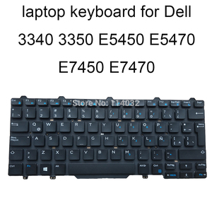 Ноутбук латинские клавиатуры 797YM для Dell latitude 13 3340 3350 E5450 E5470 E7470 E7450 LA key cap Черный КБ синие ключи 0797YM ремонт