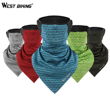 WEST BIKING Summer Cycling Face Mask Ice Silk Breathable Elasticity Sport Neck Gaiter Headband Bike Cover Half