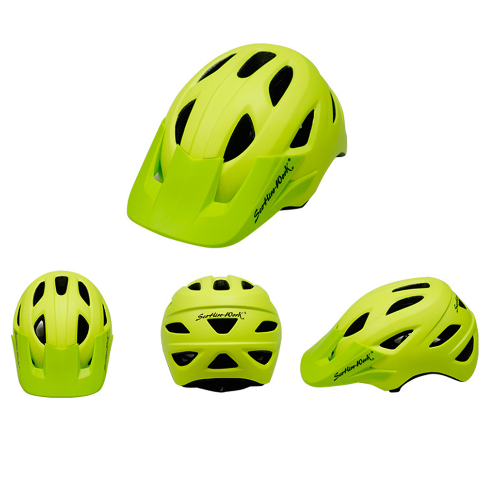 Cycling Helmet With Visor Ultralight MTB Road Bike EPS Helmets Mountain Bicycle Safety Integrally-mold Head Cover Casco BC0081 (6)