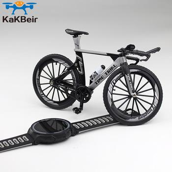 KaKBeir mini 1 10 Alloy Model rowerowy odlewany Metal Finger Mountain bike Racing symulacja kolekcja dla dorosłych zabawki dla dzieci tanie i dobre opinie CN (pochodzenie) Keep away from fire 21*7*14 cm Miniaturowe rowery na palce 5-7 lat 8-11 lat 12-15 lat STARSZE DZIECI