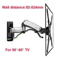 NB F500 Air Press Gas Spring 50 60 inch LED TV Wall Mount Bracket Plasma TV Mount Support Load 14 23kgs Max.VESA 400*400mm