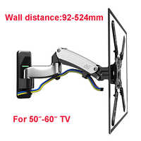 NB F500 presse à Air ressort à gaz 50-60 pouces LED TV Support de montage mural Plasma TV Support charge 14-23kgs Max. VESA 400*400mm