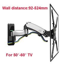 Suporte de montagem de parede nb f500, suporte para televisão com mola à gás, 50 60 polegadas, para tv e plasma 14 23kgs max. vesa 400*400mm