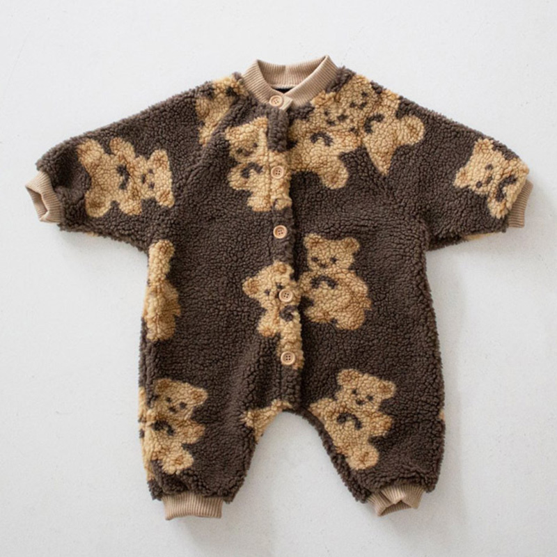 2020 детские комбинезоны MILANCEL в стиле медведя, Комбинезоны для маленьких мальчиков, одежда для девочек с одной грудью, флисовый Детский костюм 2