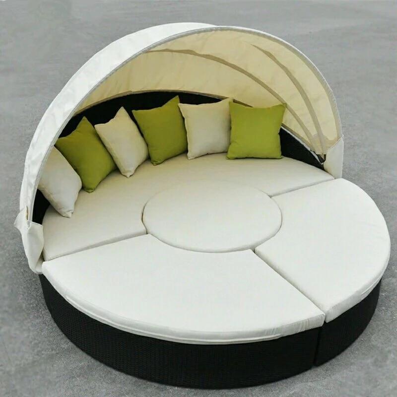 1 8meter outdoor wicker patio furniture multi use canopy bed black wicker