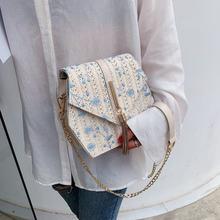 Соломенная кружевная сумка с вышивкой в виде шестиугольника