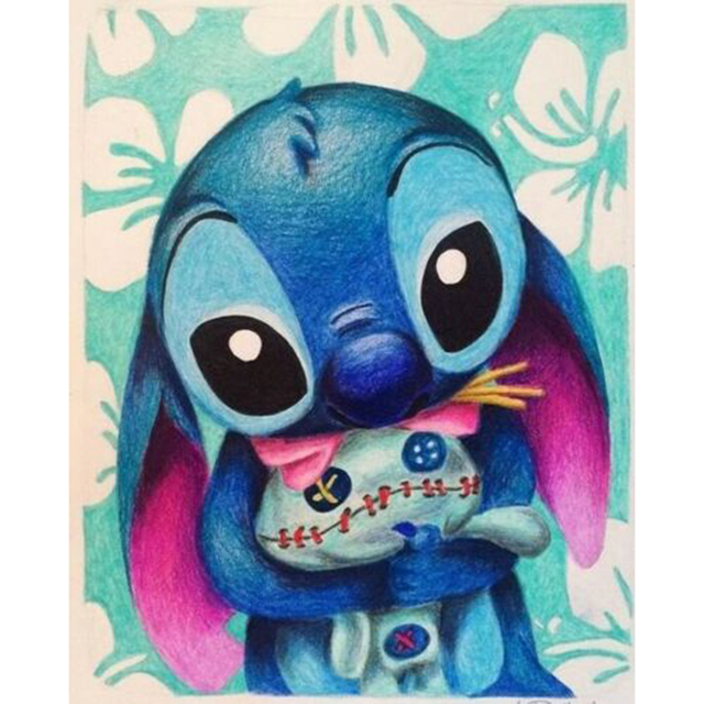 Diamond Mosaic Lilo & Stitch Diamond Painting cartoon Full Square 5d Cross Stitch Kit Diamond Embroidery Sale Picture Rhinestone