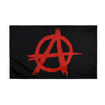 Xiangying  90x150cm anarchy red A flag - sale item Home Decor